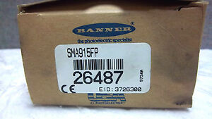 Banner Valu beam Photoelectric Sensor Sma915fp New 26487