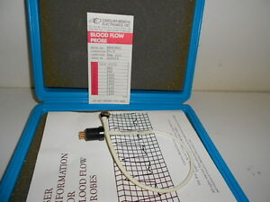 Good Used Carolina Medical Blood Flow Probe Ep408sc Pv t Connector 8mm Circle