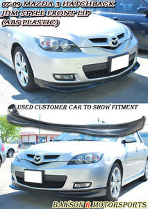 Jdm Style Front Lip abs Fits 07 09 Mazda 3 5dr Hatch