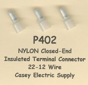 50 Nylon Insulated Closed End Terminal Connectors 22 12 Wire Awg Molex