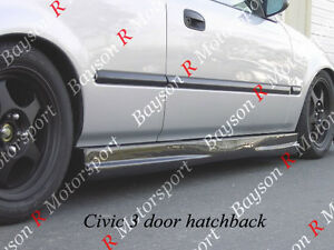 Mu Gen Style Side Skirts Abs Fits 92 00 Honda Civic