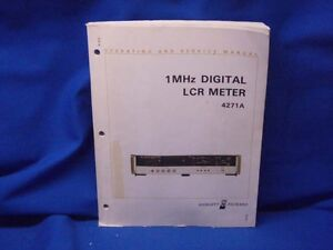 Hp 4271a 1 Mhz Digital Lcr Meter Operating Service Manual
