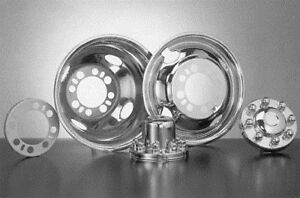 Stainless Dually Wheel Simulators 1984 1998 Ford F 350 16 Bolt On