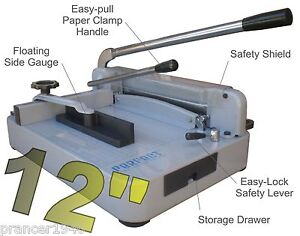 New Original Perfect G12 Pro Stack Paper Cutter Heavy Duty Guillotine