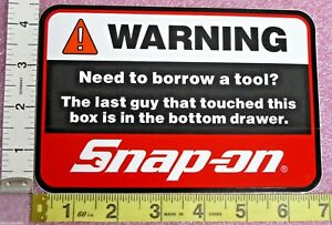 Genuine Official Snap On Tools Warning In The Drawer Sticker Decal Brand New