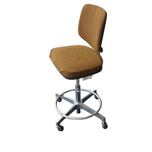 Vintage Brown Cramer Adjustable Swivel Drafting Stool Mr11749