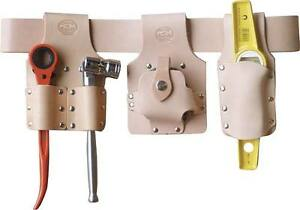 Scaffolding Tool Belt Set Premium Tan Leather With Top Brand Scaffold Tools