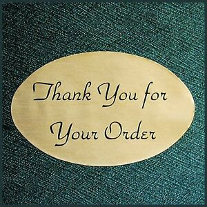 1000 Oval 1 25x2 Gold Thank You Stickers Labels Lot 2 Rolls Top Quality