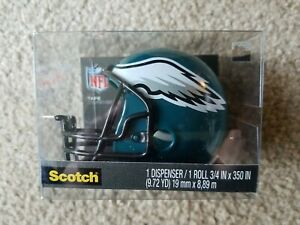 New Lot Philadelphia Eagles Post It Note Pad Dispenser Scotch Tape Dispenser