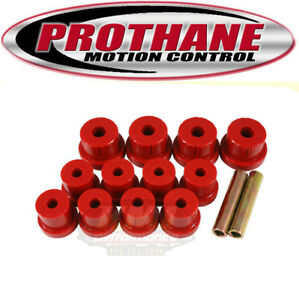 Prothane 7 1011 1967 1969 Camaro Firebird Rear Multi Leaf Spring Bushing Kit Red