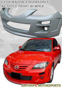 Ae Style Front Bumper Fog Lights Fits 04 09 Mazda 3