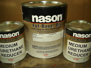 Auto Body Shop Paint Nason dupont Oxford White Basecoat Clearcoat Kit Car Paint