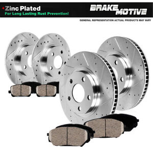 Front Rear Drill Slot Brake Rotors Ceramic Pads 300 Charger Challenger Magnum