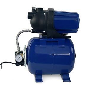 1 6hp 1 Shallow Well Garden Jet Water Pump Booster Tank W Press