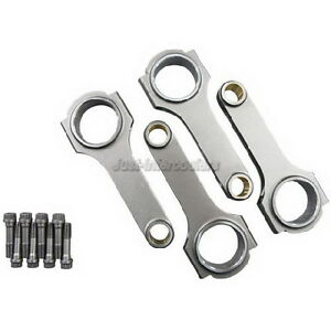 Cxracing 4pcs Forged H Beam Connecting Rods For Integra Gsr B18c W Bolts