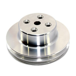 Bbc Chevy 2 V Aluminum Water Pump Pulley Long 396 454