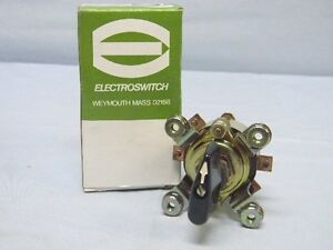 New Electroswitch 112102le 4 position 10amp 125v Rotary Switch 63d719220p2