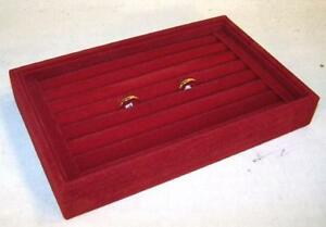 2 New Red Color Small Ring Tray Display Box Counter Boxes Rings Displays New