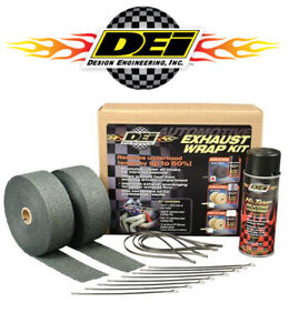 Dei 010110 Exhaust Header Wrap Complete Kit W Black Silicone Spray