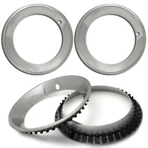 4 Pc Set Chevy Gm 15x7 Rally 15 Steel Wheel 2 1 2 Deep Outer Beauty Trim Rings