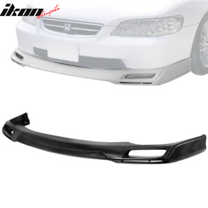 Pu For 98 02 Honda Accord 4dr V style Urethane Front Bumper Lip Spoiler Body Kit