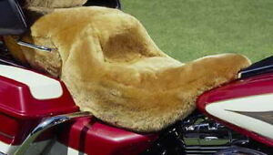 100 Merino Sheepskin Motorcycle Step Seat Cover Honda Harley Etc Tailor Made