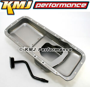Bb Mopar 7 Qt Steel Oil Pan And Pickup Tube Center Sump 383 400 B 413 440 Rb