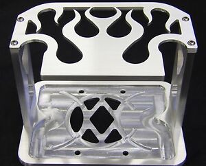 75 35 25 Fire Billet Optima Battery Hold Down Bracket Tray Box Hotrod Stereo