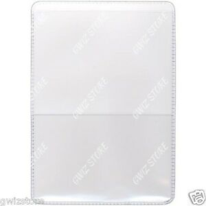 Auto Insurance Registration Id Card Holders Clear plastic Front Double Pocket