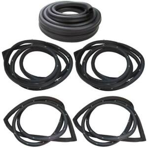 1976 1977 Chrysler Dodge Plymouth 4dr Sedan Weatherstrip Seal Kit