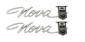Us made 1965 nova Chevy Ii Rear Quarter Emblem Pair New Trimparts 65