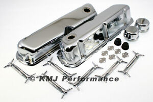 62 85 Sbf Ford Chrome Valve Cover Dress Up Kit Small Block 260 289 302 351w 5 0