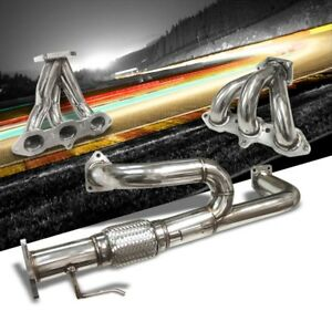 Manzo Stainless Steel Exhaust Header Manifold For 01 03 Acura Cl Tl Type S 3 2l