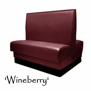 Double Restaurant Booth Wineberry Custom Color Diner Booth Grade 5 Vinyl