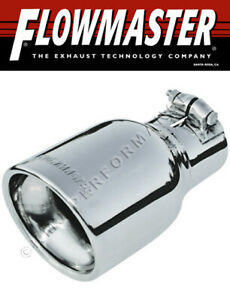 Flowmaster 15365 Polished Clamp on Exhaust Tip 4 Rolled Edge Fits 2 5 Pipe
