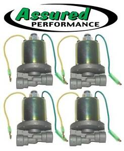 Set Of 4 Electric 12v Air Valve Solenoids Suspension Air Horn Heavy Duty