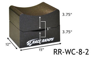 Race Ramps Rr Wc 8 2 Adjustable Height Wheel Cribs Set 8 Car Display Service