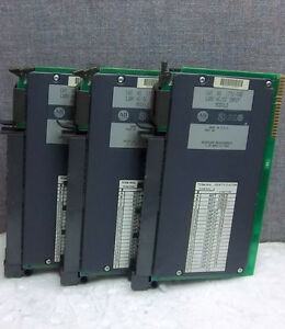 Lot Of 3 Allen Bradley Input Modules 1771 iad Used 1771iad