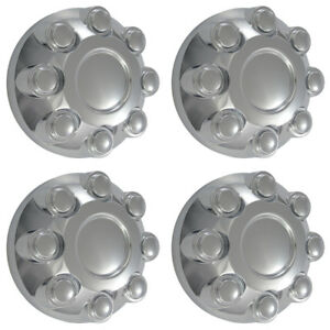 4 Ram 2500 3500 Truck 17 Chrome Wheel Center Hub Caps 8 Lug Bolt Nut Rim Covers