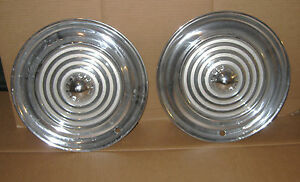 1956 Oldsmobile Hubcaps Pair Hub Caps Wheelcovers 56 Olds 2