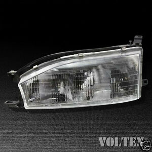 1992 1994 Toyota Camry Headlight Lamp Clear Lens Halogen Driver Left Side