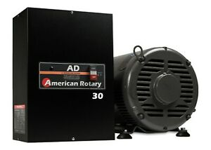 Rotary Phase Converter Ad30 30 Hp Digital Controls Heavy Duty Cnc Made In Usa