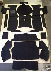 Triumph Gt6 Mkii 68 70 Black Loop Carpet Kit With 20 Ounce Padding