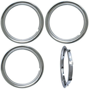 4 Pc Trim Rings 15 Chrome Steel Retention 1 3 4 Depth Replacement Outer Ring