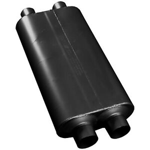Flowmaster 527504 50 Series Big Block Muffler 2 75 Dual Inlet 2 5 Dual Outlet