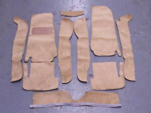 Fiat 124 Spider 68 82 Biscuit Tan Cut Pile Carpet Kit With 20 Ounce Padding