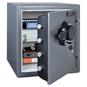 Sentry Electronic Fire safe 1 23 Ft3 16 3 8w X 19 3 8d X 17 7 8h Gray