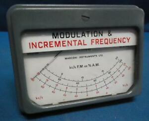 Marconi Instruments Tm 3970 52 Modulation Incremental Freq Gage Untested
