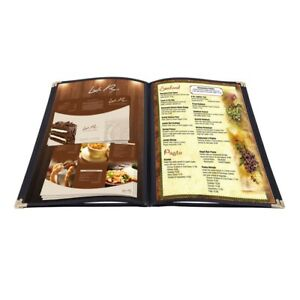 20pcs Menu Cover 8 5x11 4 Page 8 View Restaurant Hotel Deli Cafe Fold Pvc Book