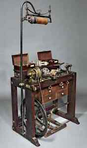 Antique Holtzapffel Ornamental Turning Lathe With Accessories Circa 1852